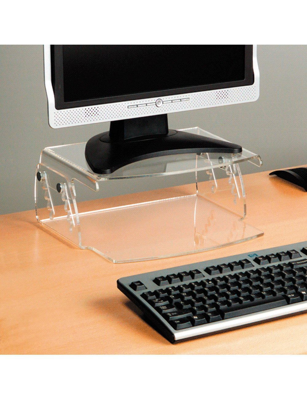 Superb Perspex Height Adjustable Monitor Stand